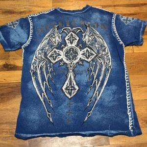 Affliction Live Fast  men's Thick stitch shirt S